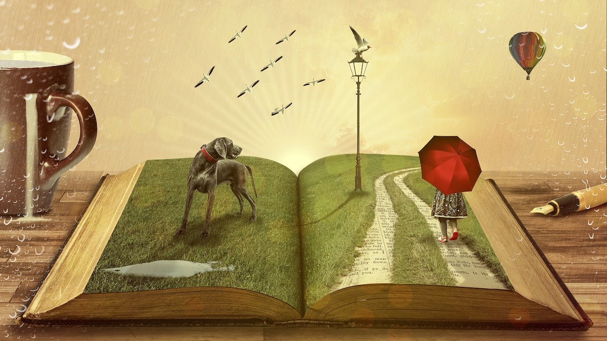 Un livre ouvert comme métaphore du storytelling pour entreprise.